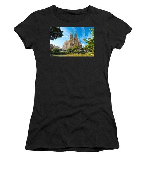 Barcelona - La Sagrada Familia Women's T-Shirt (Junior Cut) by Luciano Mortula