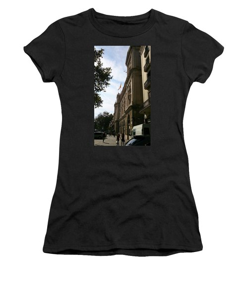 Barcelona Street Women's T-Shirt (Athletic Fit)