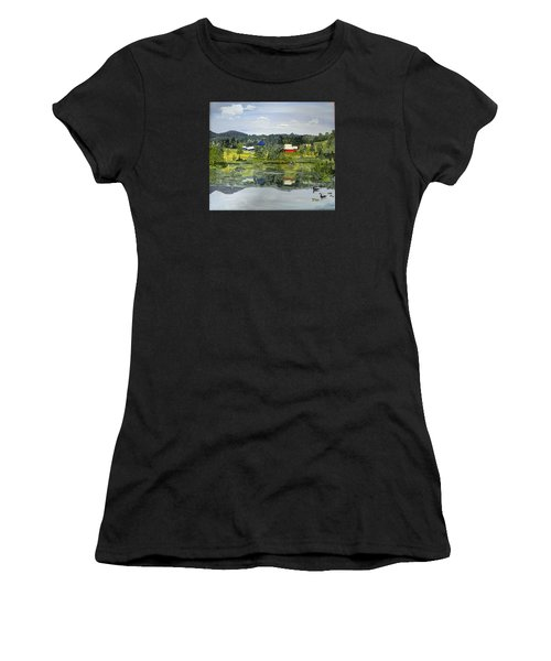 Barn At Little Elk Lake Women's T-Shirt (Athletic Fit)