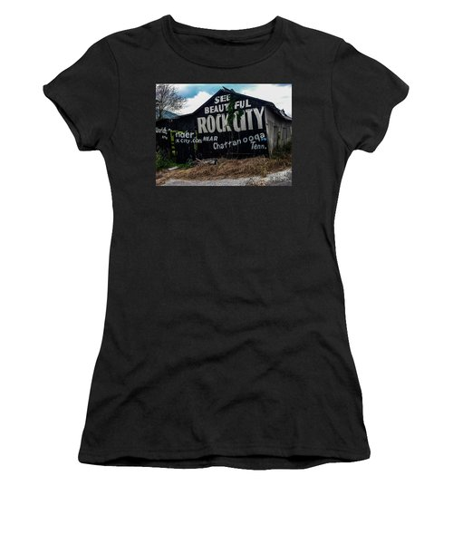 Barn Billboard Women's T-Shirt (Athletic Fit)
