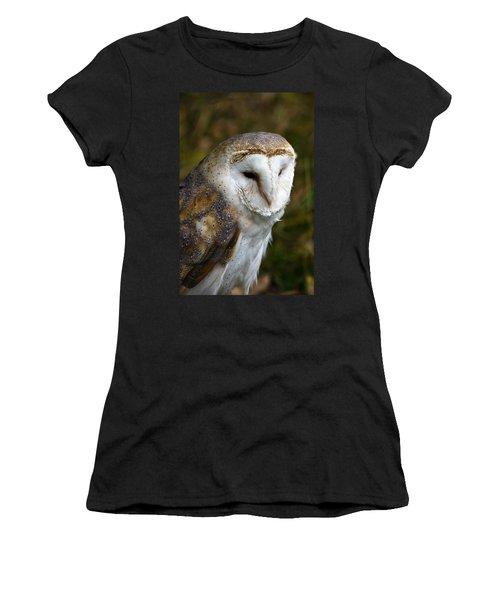 Barn Owl Women's T-Shirt (Junior Cut) by Scott Carruthers