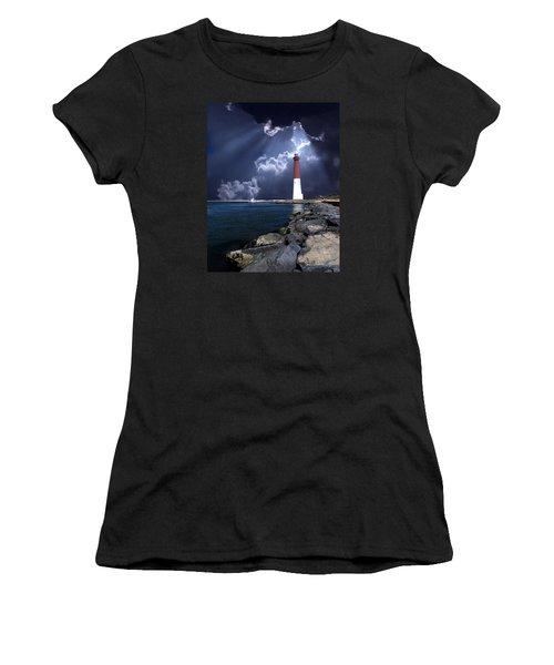 Barnegat Inlet Lighthouse Nj Women's T-Shirt (Athletic Fit)