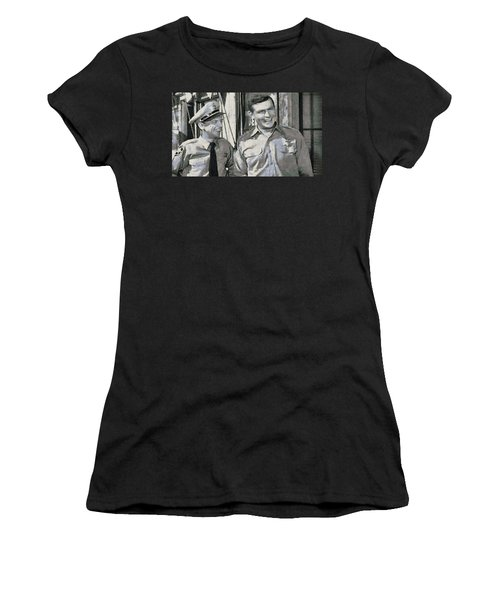 Barney Fife And Andy Taylor Women's T-Shirt