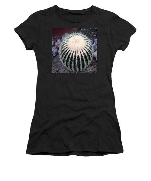 Women's T-Shirt (Junior Cut) featuring the photograph Barrel Cactus by Luther Fine Art