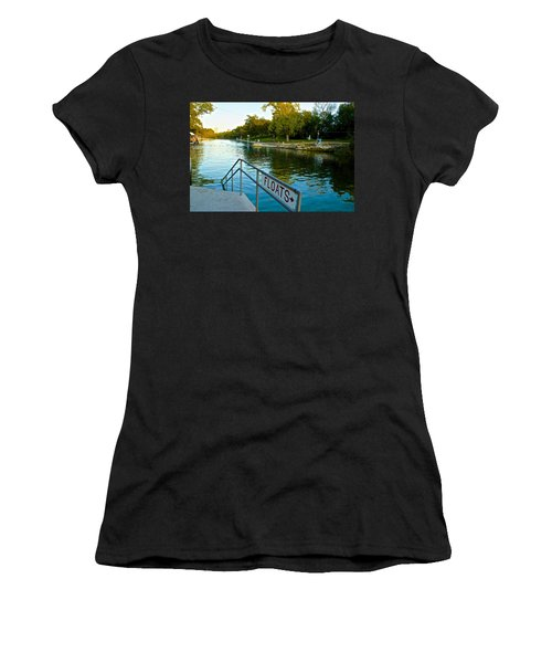 Barton Springs Pool In Austin Texas Women's T-Shirt (Athletic Fit)