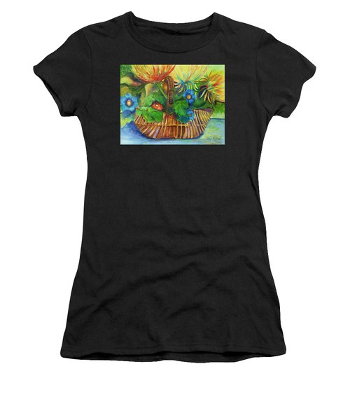 Flowers In My Basket Women's T-Shirt (Athletic Fit)