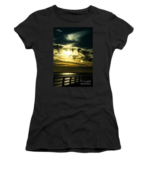 Bay Bridge Sunset Women's T-Shirt (Athletic Fit)