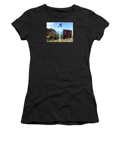 Beach Signs San Clemente Women's T-Shirt (Athletic Fit)