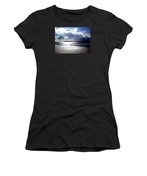 Lone Beach Walker Women's T-Shirt (Athletic Fit)