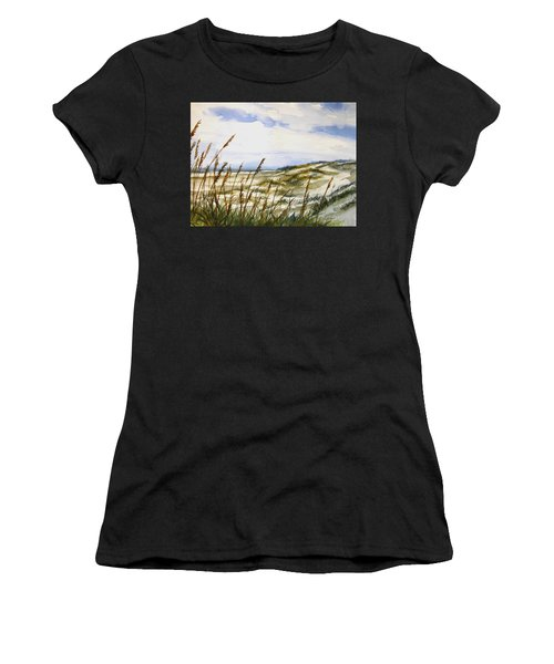 Beach Watercolor 3-19-12 Julianne Felton Women's T-Shirt