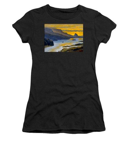 Beacon Rock From Oregon Side Women's T-Shirt