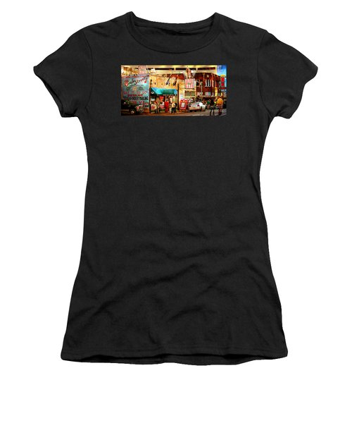Beale Street Women's T-Shirt (Junior Cut) by Barbara Chichester