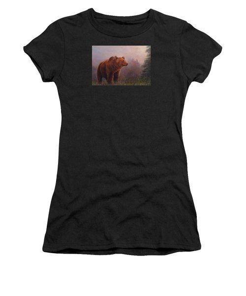 Bear In The Mist Women's T-Shirt