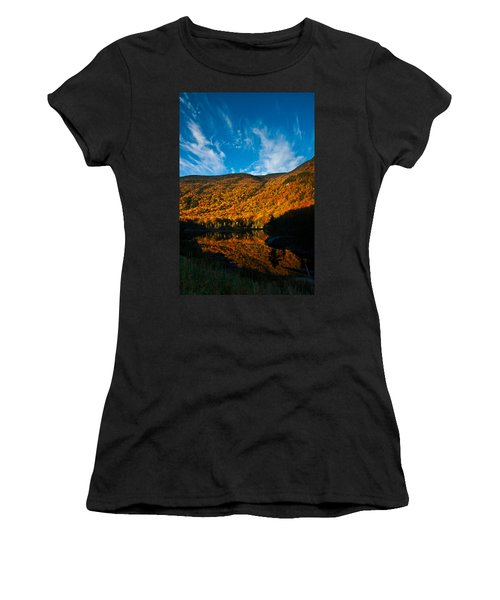 Beaver Pond White Mountain National Forest Women's T-Shirt (Athletic Fit)