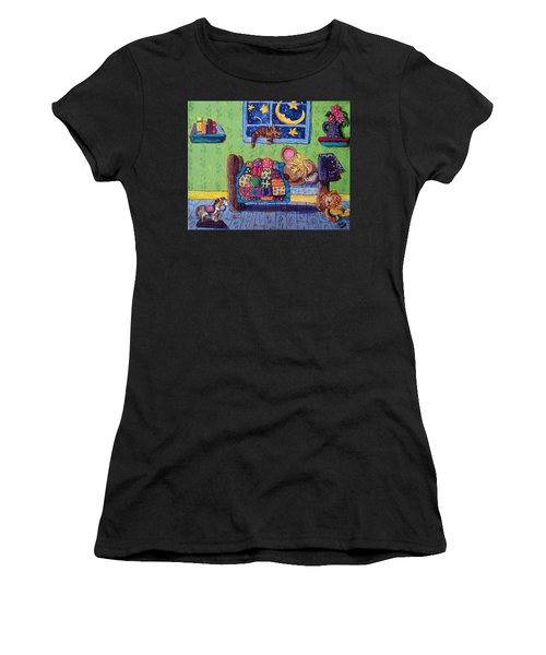 Bedtime Mouse Women's T-Shirt (Athletic Fit)