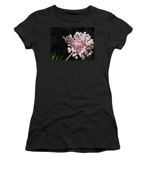 Bee And Allium Women's T-Shirt (Athletic Fit)