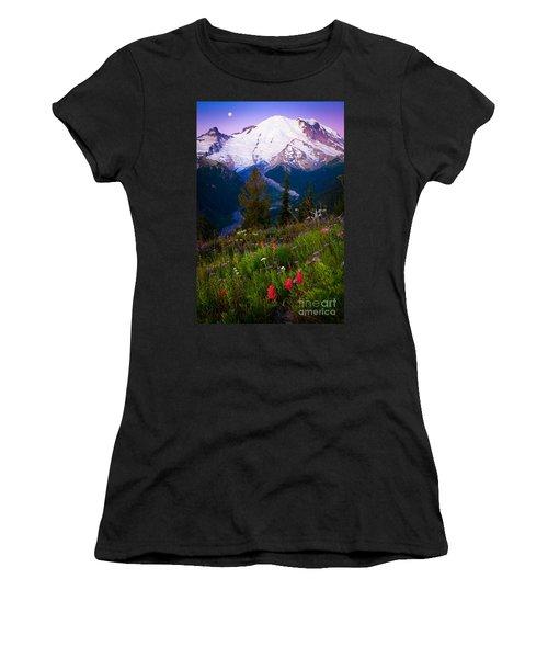 Before Dawn At Mount Rainier Women's T-Shirt