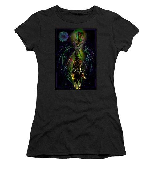 Women's T-Shirt (Junior Cut) featuring the digital art Behold The Pale Rider  by Hartmut Jager