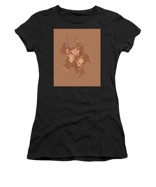 Beige Satin Morning Glory Women's T-Shirt
