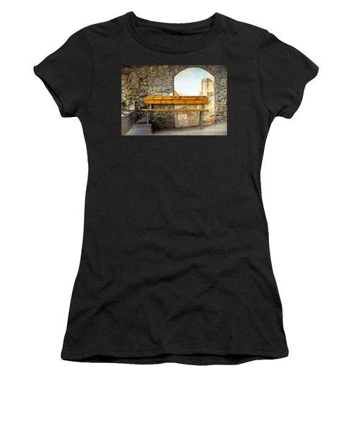 Bench In Riomaggiore Women's T-Shirt