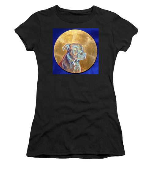 Women's T-Shirt featuring the painting Beowulf by Ashley Kujan