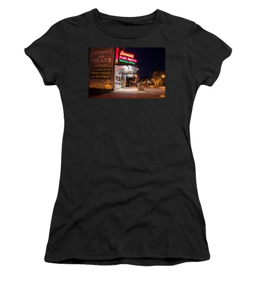 Bernies Fine Meats Signage Women's T-Shirt (Athletic Fit)
