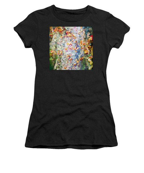 Berries Around The Tree - Abstract Art Women's T-Shirt (Athletic Fit)