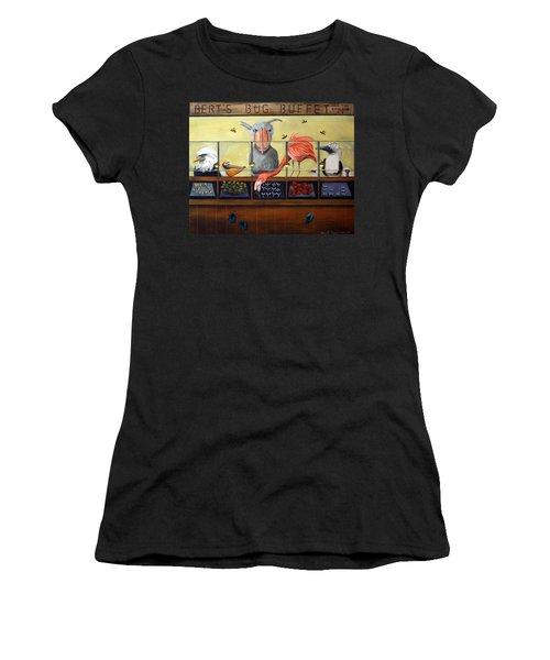 Bert's Bug Buffet Women's T-Shirt (Junior Cut) by Leah Saulnier The Painting Maniac