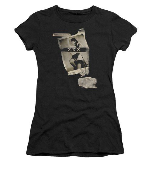 Bettie Page - Newspaper And Lace Women's T-Shirt