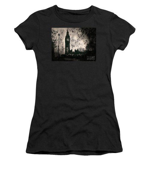 Big Ben Black And White Women's T-Shirt (Athletic Fit)