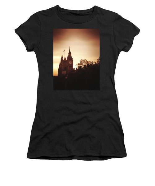 Big Ben In Sepia Women's T-Shirt (Athletic Fit)