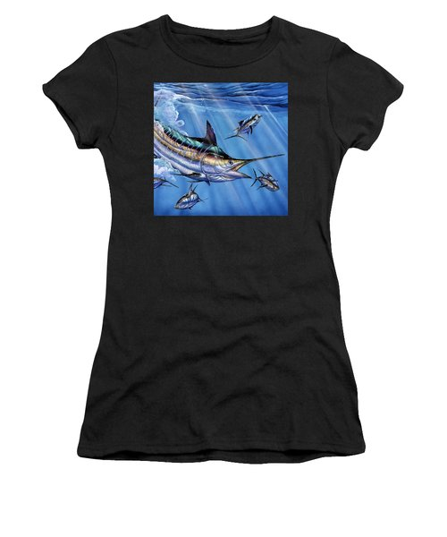 Big Blue And Tuna Women's T-Shirt (Athletic Fit)