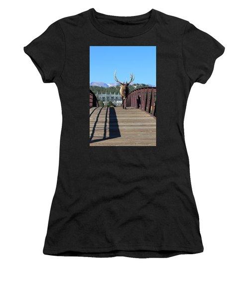 Big Bull On The Bridge Women's T-Shirt (Athletic Fit)