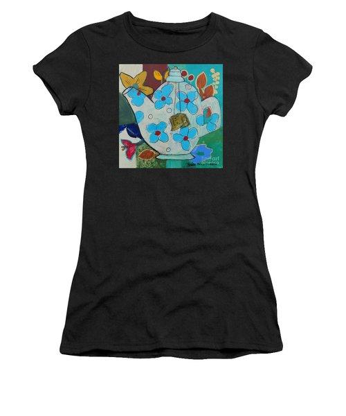 Big Floral Tea Pot Women's T-Shirt