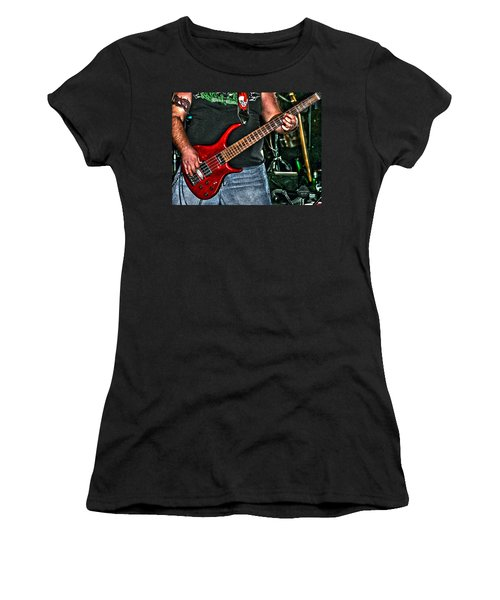Women's T-Shirt (Junior Cut) featuring the photograph Big Red Tobias by Lesa Fine