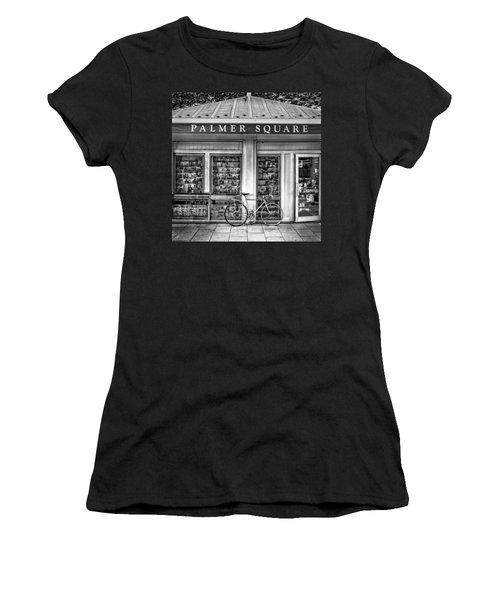 Bike At Palmer Square Book Store In Princeton Women's T-Shirt (Junior Cut) by Ben and Raisa Gertsberg