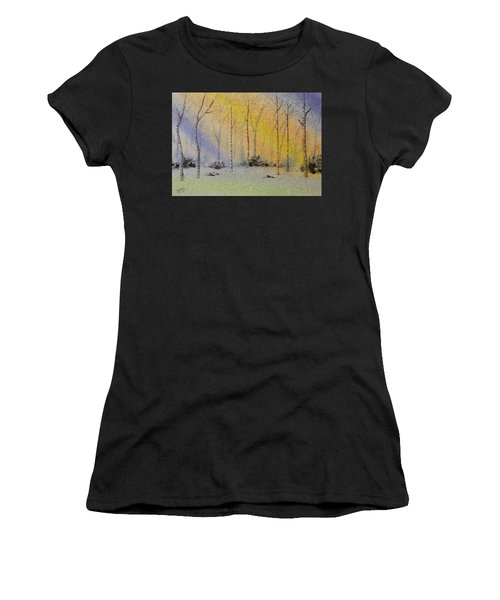 Birch In Blue Women's T-Shirt (Athletic Fit)