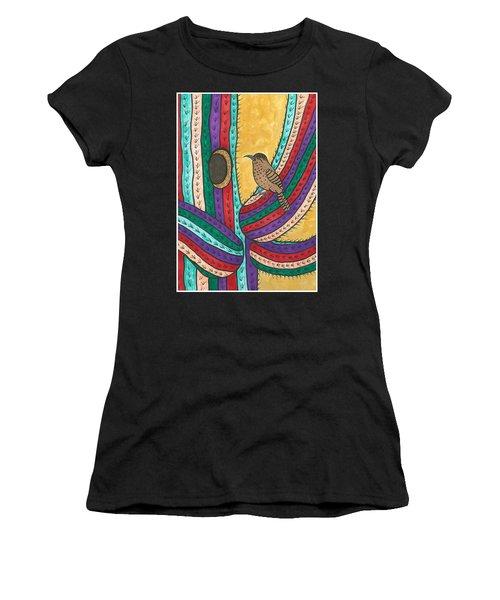 Bird House Women's T-Shirt (Junior Cut) by Susie Weber