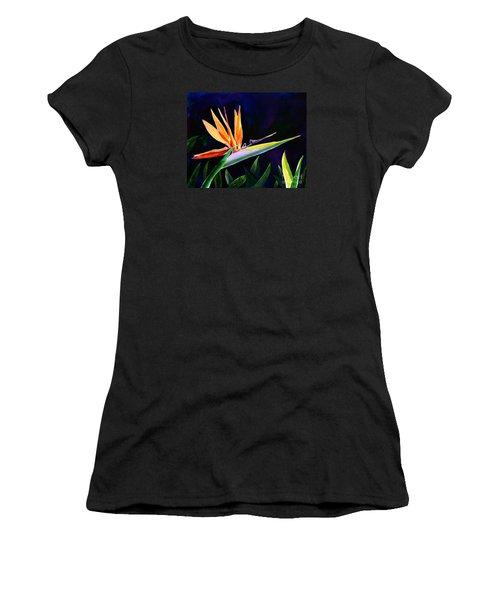 Bird Of Paradise Women's T-Shirt (Junior Cut) by AnnaJo Vahle