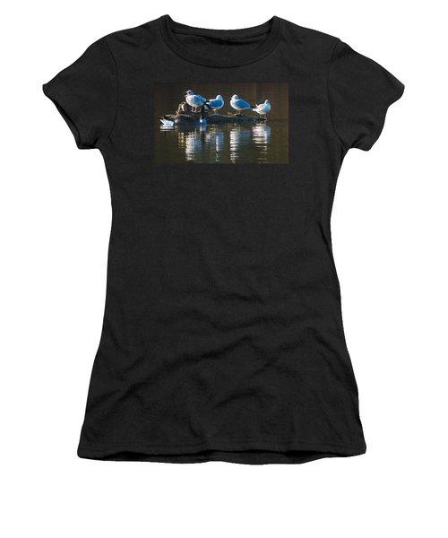 Birds On A Log Women's T-Shirt