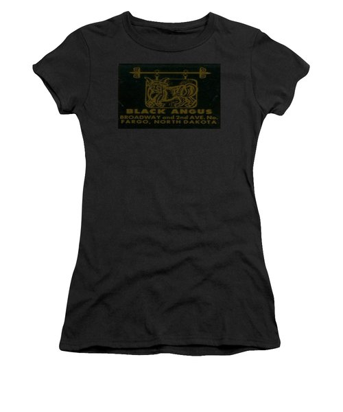 Women's T-Shirt (Junior Cut) featuring the digital art Black Angus by Cathy Anderson