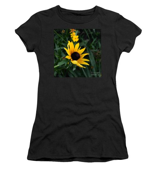 Women's T-Shirt (Junior Cut) featuring the photograph Black-eyed Susan Glows With Cheer by Luther Fine Art