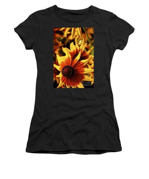 Black Eyed Susan Women's T-Shirt (Junior Cut) by Linda Bianic