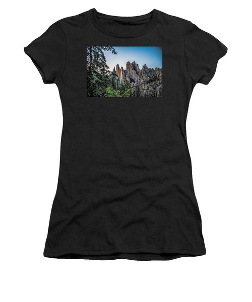 Black Hills Needles Women's T-Shirt (Athletic Fit)