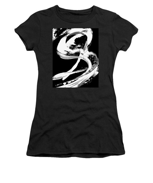 Women's T-Shirt (Athletic Fit) featuring the painting Black Magic 307 Inverted by Sharon Cummings