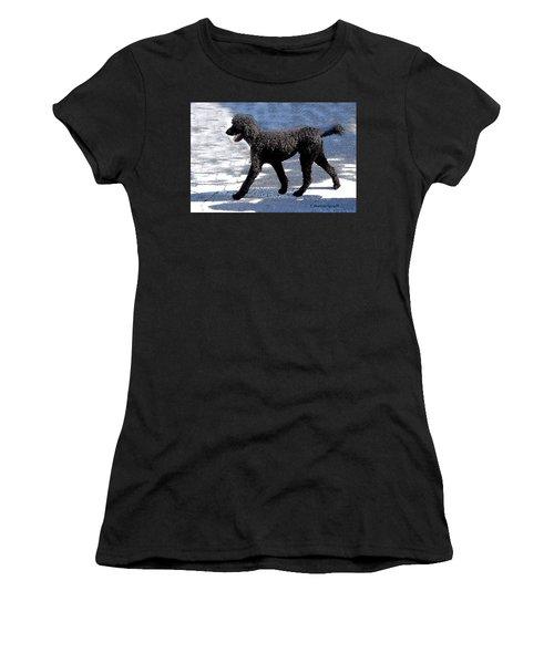Black Poodle Women's T-Shirt (Athletic Fit)
