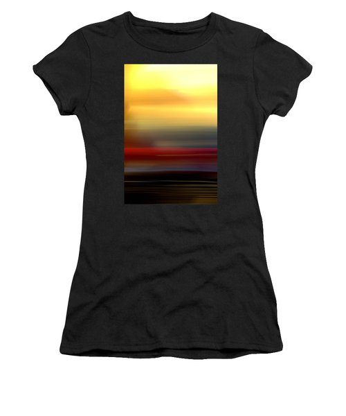 Black Red Yellow Women's T-Shirt (Athletic Fit)