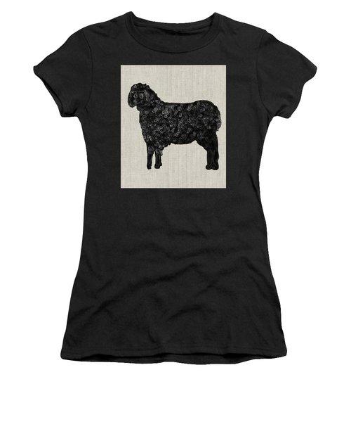 Black Sheep Women's T-Shirt (Junior Cut) by Enzie Shahmiri