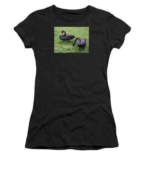 Black Swans Women's T-Shirt (Athletic Fit)
