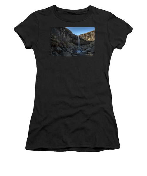 Black Waterfall Women's T-Shirt (Athletic Fit)